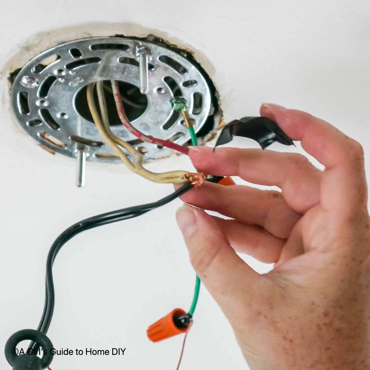 attaching new light fixture wiring
